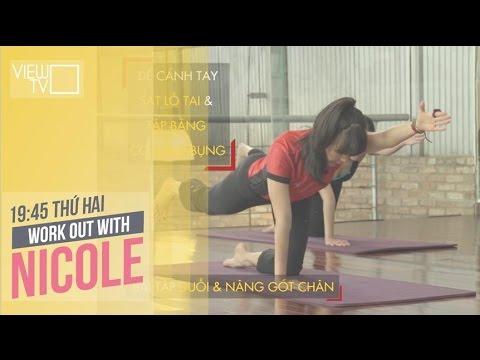 Tập Pilates giảm mỡ bụng siêu nhanh | W.O.W Nicole | VIEW TV-VTC8