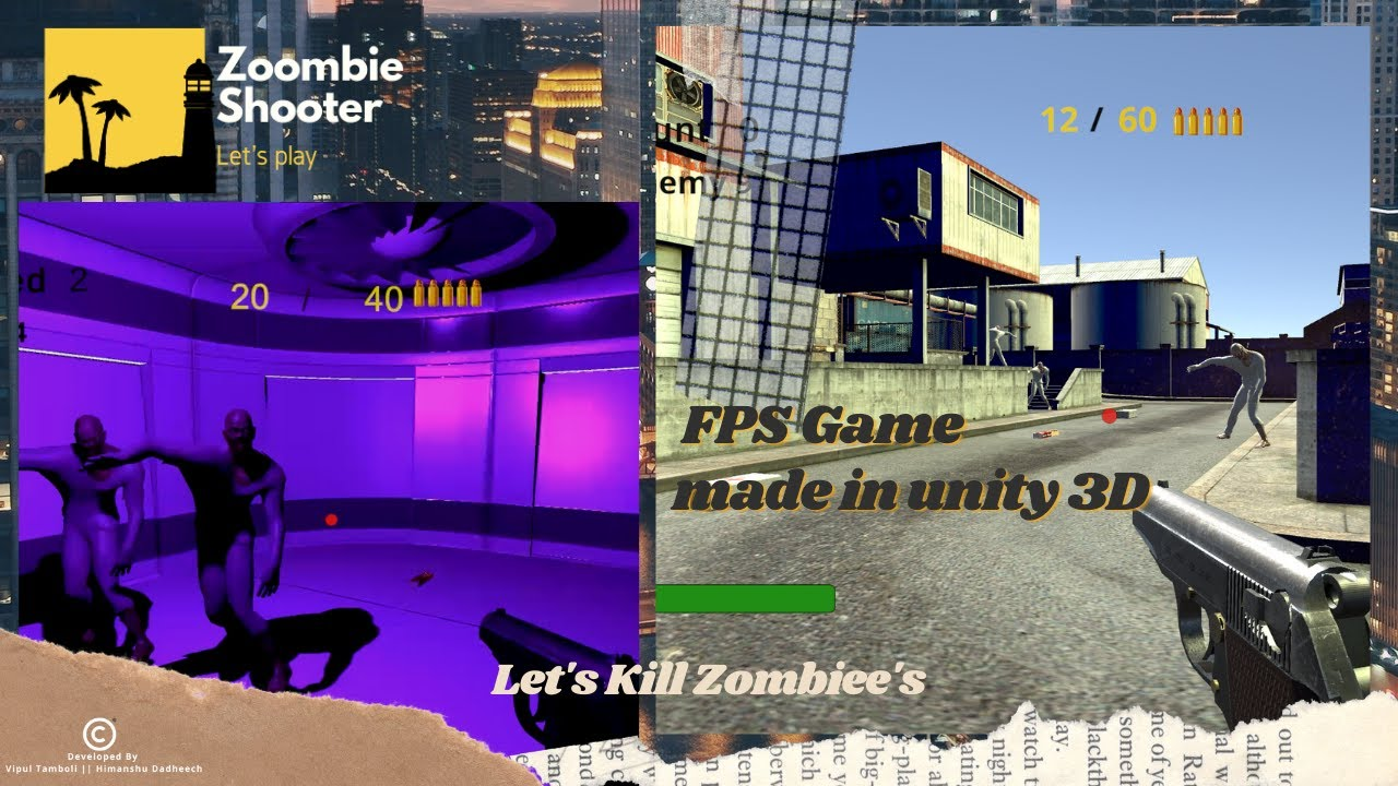 Download Zombiee Shooter FPS Game for PC   Made in unity 3D  C# Scripting