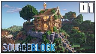 SourceBlock: Episode 1 - Let's Get Started!!! [Minecraft 1.14 Survival Multiplayer]