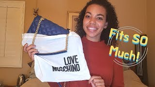 LOVE MOSCHINO UNBOXING | Quilted Shoulder Bag + What Fits Inside