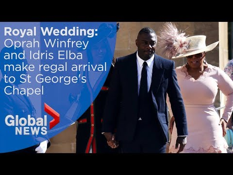 Royal Wedding: Oprah Winfrey and Idris Elba arrive at St. George's Chapel