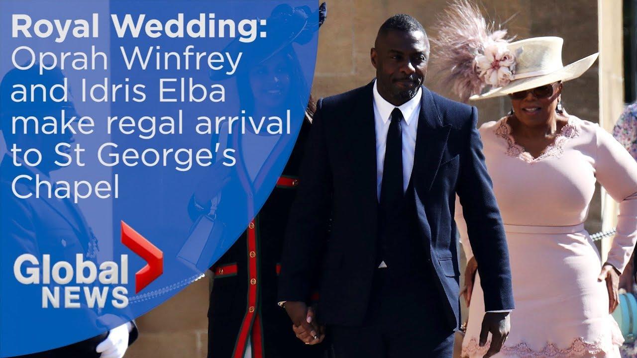 Oprah Winfrey Royal Wedding.Royal Wedding Oprah Winfrey And Idris Elba Arrive At St George S Chapel