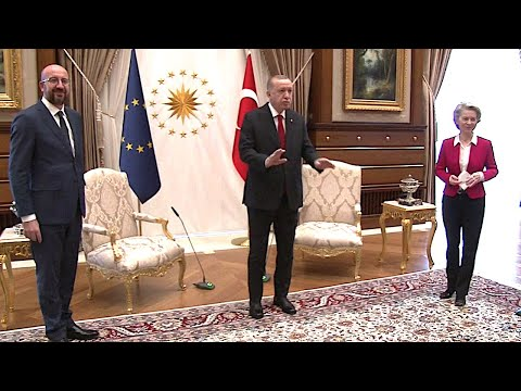 06.04.2021 - Recep Tayyip Erdoğan, Ursula von der Leyen & Charles Michel