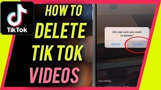 How to DELETE a TIK TOK video