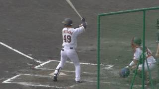 【プロ野球】沖縄キャンプ 巨人 菅野 対 石川慎吾
