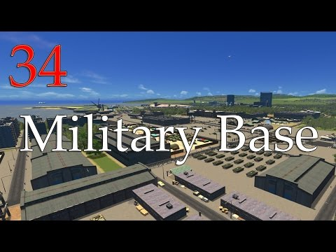 Cities Skylines: Creating a Military Base! (34)