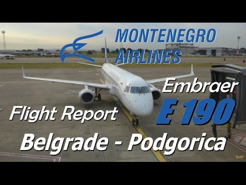 Flight Report | Montenegro Airlines Embraer 190 Economy Class Belgrade to Podgorica