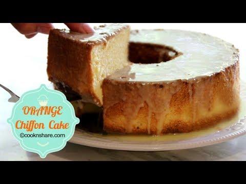 Orange Chiffon Cake with Orange Glaze