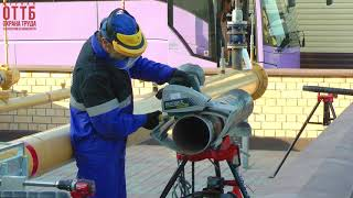 Payvandlash ekipaj quvuri repairing xavfsiz operatsiya