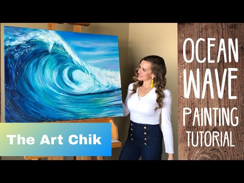 Ocean Wave Oil Painting Tutorial  – By Artist, Andrea Kirk | The Art Chik