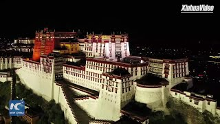 Fly Over Lhasa in Tibet