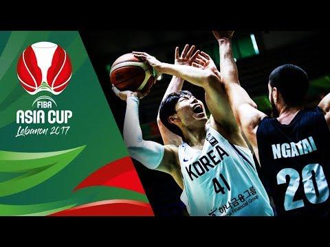 HIGHLIGHTS: Korea vs. New Zealand (VIDEO) Bronze Medal Game / FIBA Asia Cup 2017