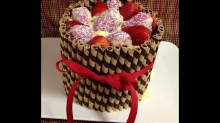 White Chocolate And Strawberry Cheat Birthday Cake