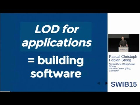 LOD for Applications - Using the Lobid API / Pascal Christoph, Fabian Steeg