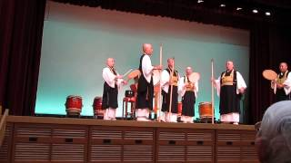 駿河療養所での曹洞宗青年会和太鼓集団「鼓司(くす)」の演奏