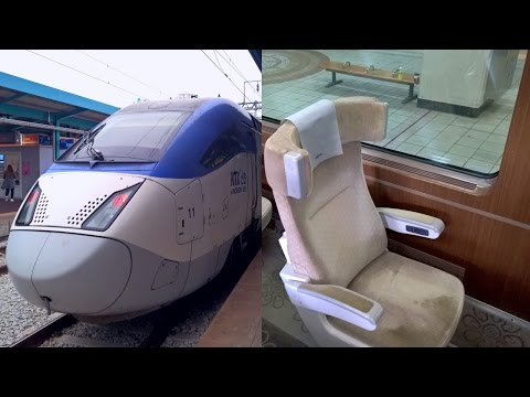 Korea High Speed Rail in First Class - KTX Sancheon Iksan - Seoul Yongsan