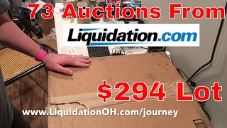 73 Liquidation.com Auctions Won Large Electronics Lot Unboxing Box #1