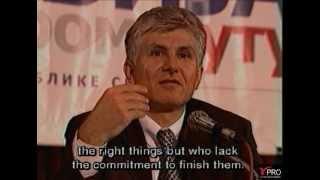 """""""IF SERBIA STOPS...""""  - Dr. Zoran Djindjic"""