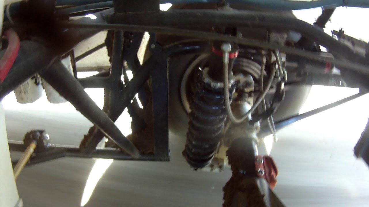 Dirt Late Model RR Reverse 4 bar controlling rear steer.