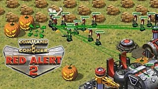 Red Alert 2 Halloween Jack-o'-lantern pumpkin in Extra Small map Online Multiplayer
