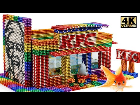 DIY - How To Build Amazing KFC Aquarium From Magnetic Balls (Satisfying) | Magnet World Series