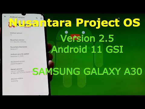 Nusantara Project OS v2.5 Android 11 for Samsung Galaxy A30