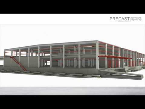 iParts Video - structural precast parts - Precast Software Engineering