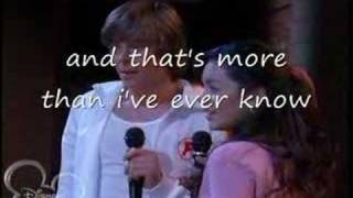 High School Musical 2 You are the music in me