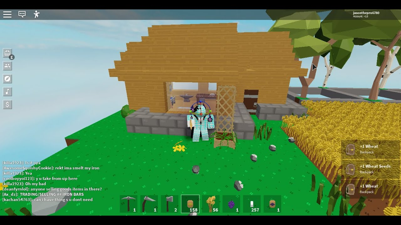 Finishing My House In Roblox Skyblock Youtube