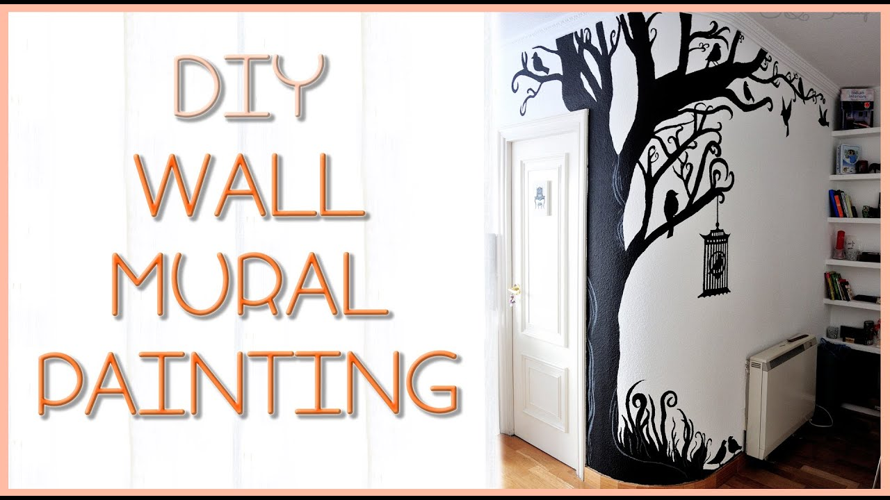 Diy tree wall mural silvia quiros youtube for Diy wall photo mural