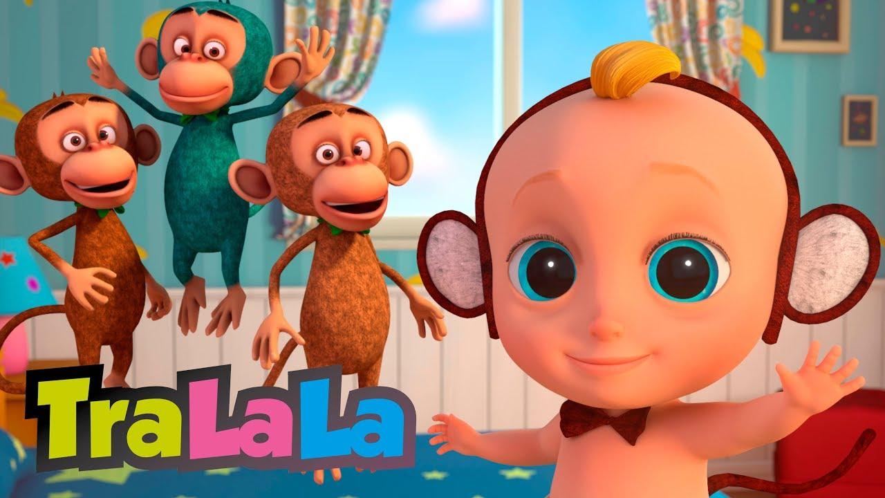 Cinci maimuțele - Cântece cu animale pentru copii   TralaLa