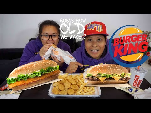 Burger King Mukbang (Eating show) - AGE REVEALED!!!