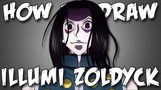 Draw Illumi Zoldyeck From Hunter X Hunter