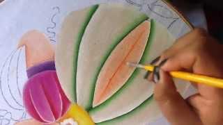 Pintura em tecido da bonequinha melão – parte 4