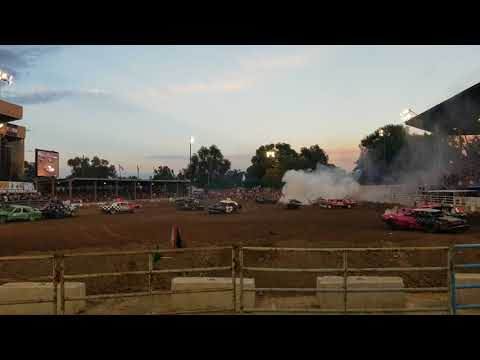 Colorado State Fair Demolition Derby 2018 Main heat