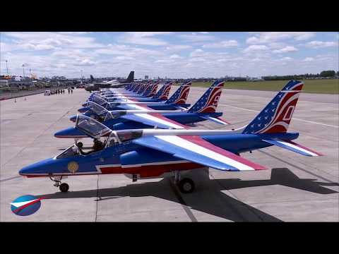 Vol de la Patrouille de France au Salon du Bourget 2017
