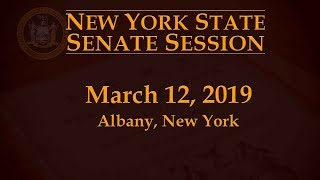 New York State Senate Session - 03/12/19