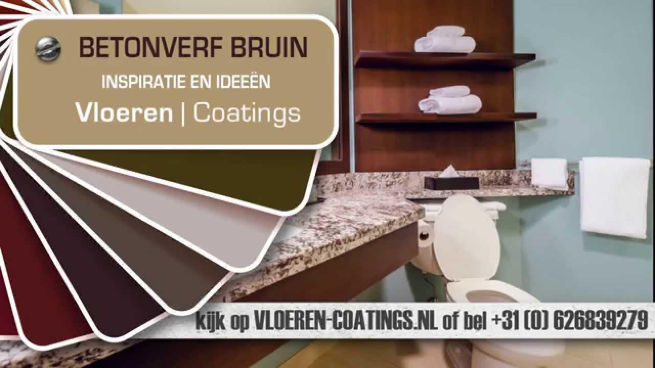 Verschillende betonverf kleuren - bruin - YouTube