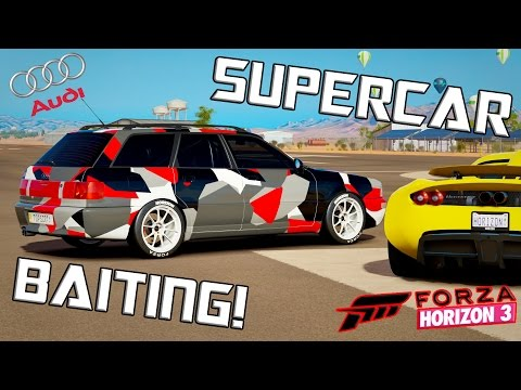 SUPERCAR BAIT Drag Build! - 1995 Audi RS2 Avant -  Forza Horizon 3 [EP.2]