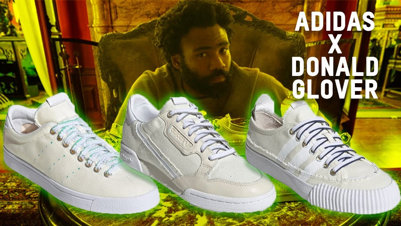 Gallina claramente Pocos  ADIDAS DONALD GLOVER SNEAKER FIRST LOOK!!! - YouTube