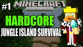 Minecraft [PS3 / XBOX360] Hardcore Jungle Island #1 - The Journey Begins