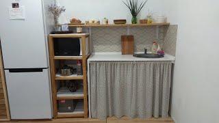 Кухня из поддонов. Этажерка своими руками на кухню. Открытая полка на кухню. Стройка  своими руками.