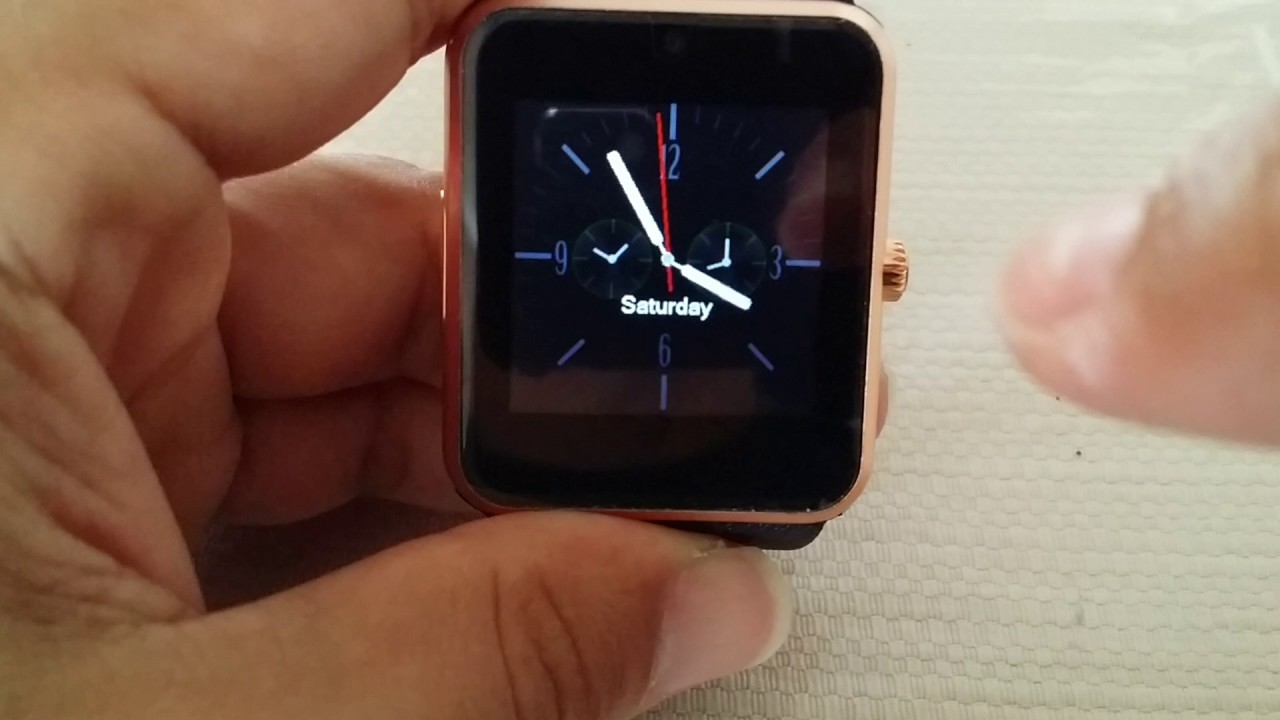 How To Change Pre Installed Clock Face On Gt08 Smart Watch Youtube
