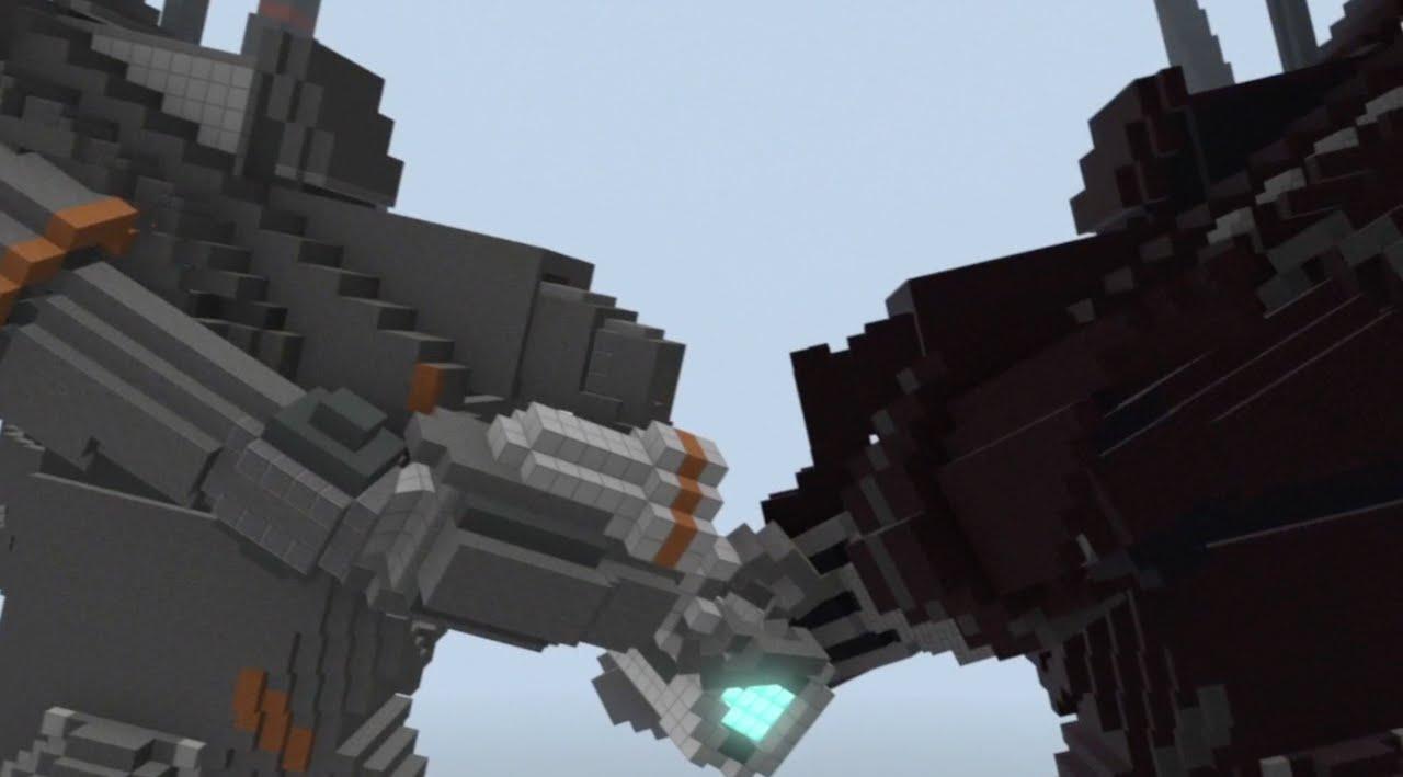 Minecraft Monsters Vs Aliens Robot