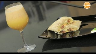 سندوتش سجق بالجبنة الموتزاريلا - عصير جريب فروت بالتفاح   | سندوتش وحاجة ساقعة حلقة كاملة