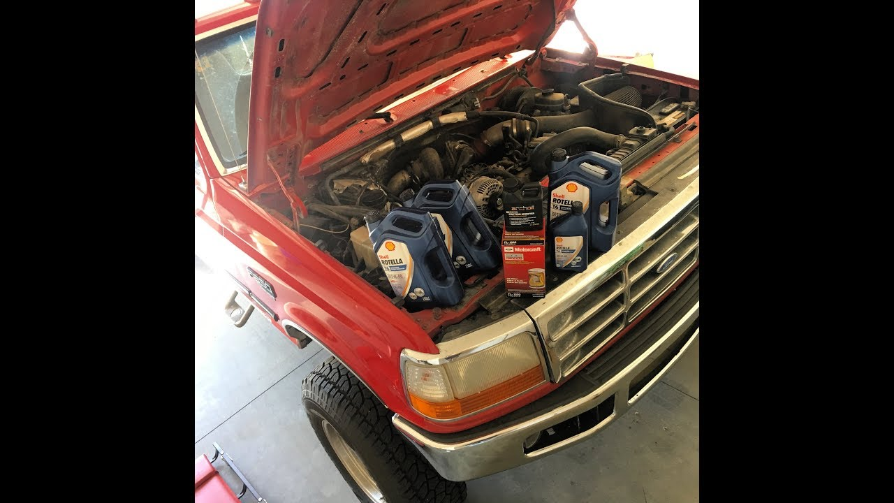 Obs 73 Powerstroke Fuel Filter And Oil Change Archoil Ar9100 7 3 Location