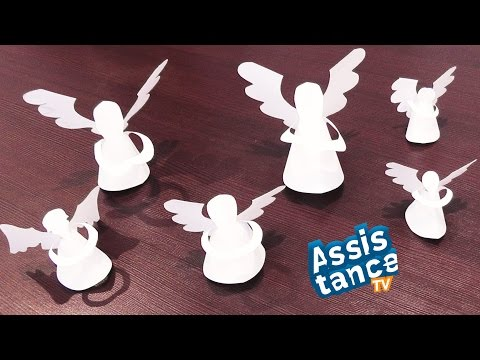 Ангелочки из бумаги / Поделки на Рождество