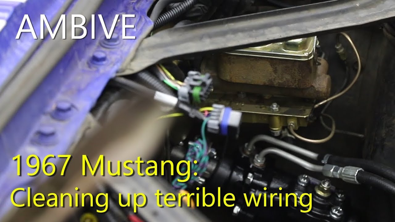 67 Mustang - Wiring cleanup in a hurry - YouTubeYouTube
