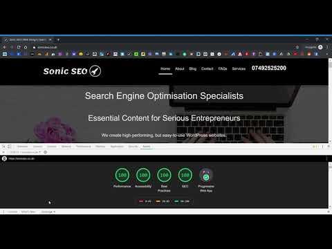 Sonic SEO Google Lighthouse Easter Egg (Chrome DevTools)
