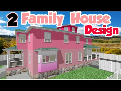 Big Two Family House Design Home Floor Plan Apartment Youtube